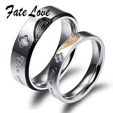 couples rings set images Buy couple engagement rings stainless steel jpg