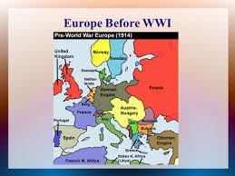 Europe Before 1914 Map by World War I 1914 U2013 1918 U S Involvement 1917 U2013 Ppt Download