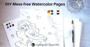 diy magic watercolor painting sheets kindergarten connection