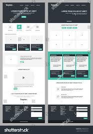 modern web design page website template modern web design stock vector 688406425