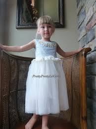 flower girls dress princess dress girls lace dress tiffany blue