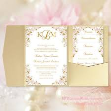 pink and gold wedding invitations pocket fold wedding invitations kaitlyn blush pink gold 5x7