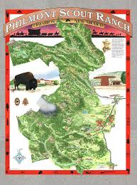 philmont scout ranch map philmont scout ranch poster painting by philippe plouchart