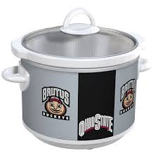state buckeyes collegiate crock pot slow cooker