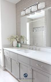 216 best the best bathroom ideas images on pinterest room a budget friendly bathroom remodel the maple vanity cabinets were painted charcoal gray moen