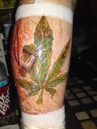 marijuana tattoos designs pictures