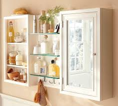 Glass Bathroom Storage Jars Stunning White Bathroom Wall Cabinet With Shelf From Clear Acrylic