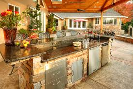 backyard kitchens cutting edge landscape outdoor kitchen