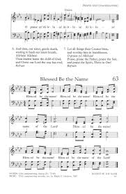 the united methodist hymnal 63 blessed be the name hymnary org