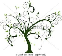 eps vectors of swirly tree on white background csp8976159 search
