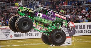 monster trucks grave digger crashes monster jam roars into montgomery again