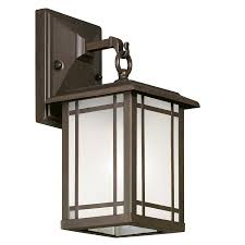 Lowes Porch Lights by Shop Portfolio 12 1 2 In Aged Bronze Outdoor Wall Light At Lowes Com