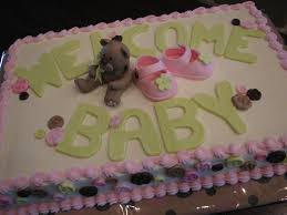 decadent designs baby shower sheet cake