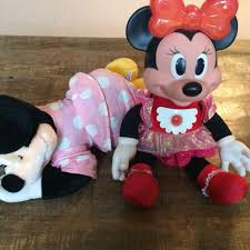 dolls that light up find more lot of 2 vintage minnie mouse dolls sleeping plush disney