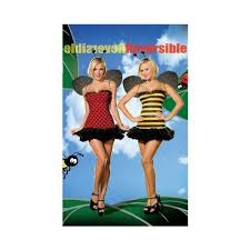 Bumblebee Halloween Costumes Dreamgirl Womens Reversible Ladybug Bumblebee Halloween Costume