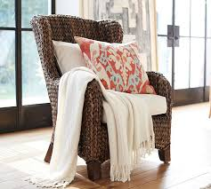 Pottery Barn Chairs For Sale Seagrass Wingback Armchair Pottery Barn
