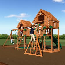 Gorilla Playsets Catalina Wooden Swing Set Playground Sets For Backyards Backyard Decorations By Bodog