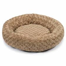 Doggie Beds Slumber Pet Swirl Plush Donut Dog Bed Oatmeal With Same Day
