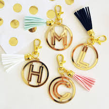 gold monogram gold monogram acrylic keychain wedding favor key chains silver