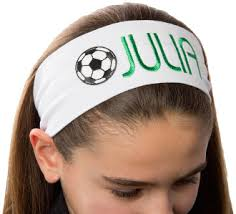 stretchy headbands embroidered soccer stretch headbands cotton stretchy headbands