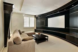 Surround Sound Installation Home Theaters Loveland CO - Living room with home theater design