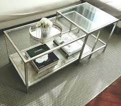 Ikea Restyle Modern Hollywood Regency by Ikea Vittsjo Nesting Table Hack Aged Silver Leaf And Shellac My