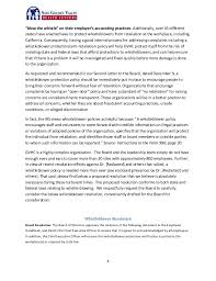 Formal Complaint Letter Against An Employee fifth letter to the board staff contact whistleblower policy and t