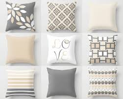 Cushion Covers For Sofa Pillows by Neutral Pillow Covers Decorative Throw Pillows Home Decor Grey
