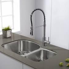 single kitchen faucet kraus pull single handle kitchen faucet reviews wayfair
