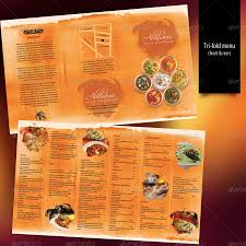 indian menu template indian restaurant menu set a4 trifold graphicriver previewer