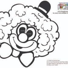 clown mask coloring page kids drawing and coloring pages marisa