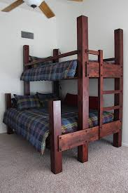 Free Bunk Bed Plans Twin Over Queen by Custom Twin Over Queen Bunk Bed Shown With 94