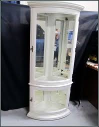curio cabinet cozyite polished corner cabinet for bathroom