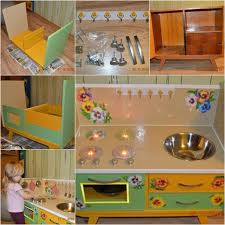 play desk for wonderful diy kids play kitchen from old nightstand
