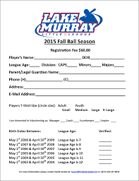 Golf Tournament Sign Up Sheet Template Lake Murray League
