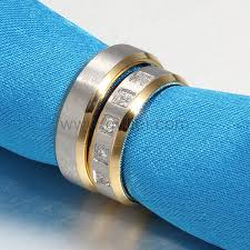 blue titanium wedding band custom titanium wedding rings set for him and personalized