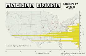 United States Latitude Map by Mapsbynik Waffle House By Latitude After The Seriousness