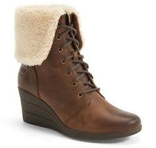 s ugg australia brown emalie boots ugg australia s emalie waterproof wedge boot 7us stout brown