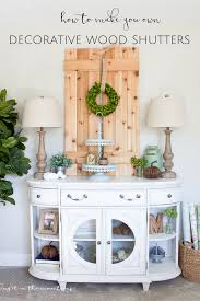 how to make your own decorative diy shutters making it in the