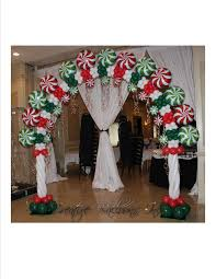 christmas candy theme arch balloon decorations pinterest