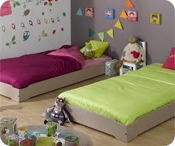 chambre enfant com lit enfant empilable bleu chine 90x190 cm vente mobilier bois massif