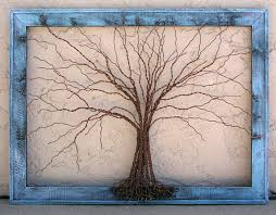 original large tree abstract sculpture painting wire tree on