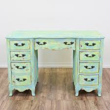 shabby chic writing desk this 8 drawer kneehole desk is shabby chic at its finest