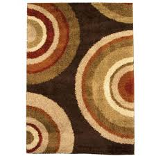 Orange And Brown Area Rug Orian Rugs Eclipse Brown 7 Ft 10 In X 10 Ft 10 In Area Rug