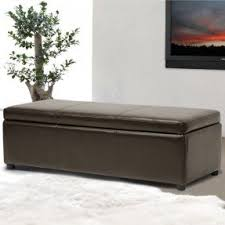 Leather Bench Ottoman by Leather Storage Benches Foter