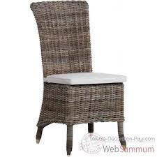 chaise rotin conforama chaise amélie rotin kooboo gris sans coussin kok 1315g de meuble
