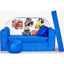 canapé convertible enfant canapé lit enfant convertible bleu et voitures achat vente