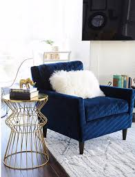 Blue Chairs For Living Room Everett Chair Heathered Tweed Cement Armchairs Royal Blue And