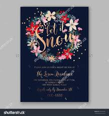 christmas party invitation poster template with romantic winter
