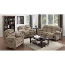 Sunset Trading Madison  Piece Reclining Living Room Set - Three piece living room set